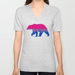 Bi Pride Bear Unisex V-Neck