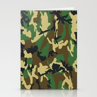 military Stationery Cards featuring Military - Camouflage by Three of the Possessed