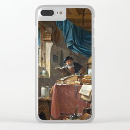 Thomas Wyck A Scholar in his Study Clear iPhone Case