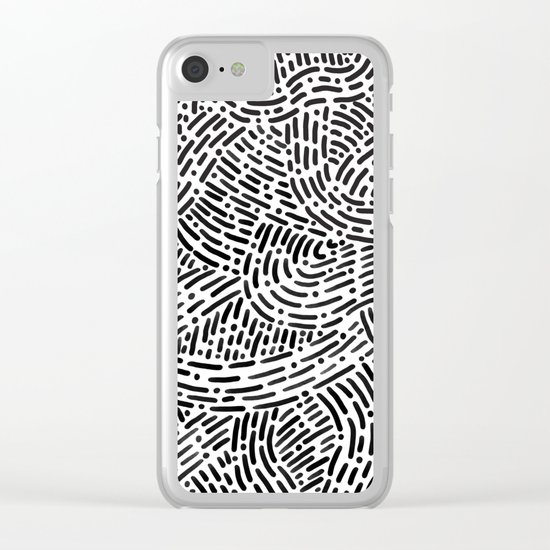 Pattern Study 1 Clear iPhone Case