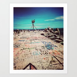 Tattoo Jetty Art Print