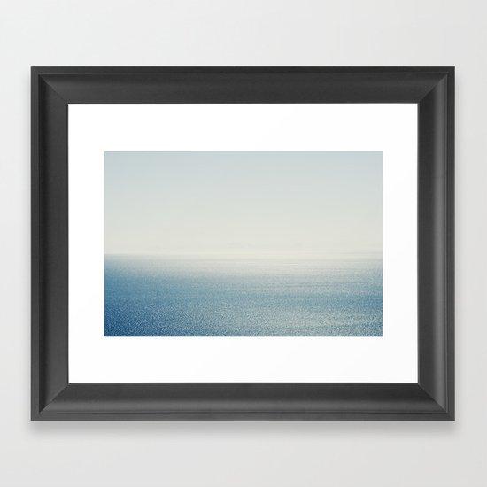 Ocean Horizon Diamonds Framed Art Print
