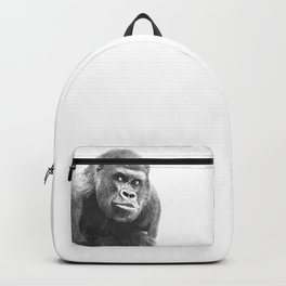 Black and White Gorilla Backpack