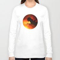 godzilla Long Sleeve T-shirts featuring godzilla by avoid peril