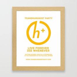 Transhumanist Party Framed Art Print