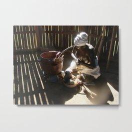 African slave sculpture in Arecibo Metal Print