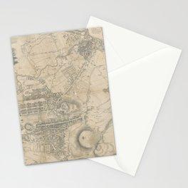 Vintage Map of Edinburgh Scotland (1818) Stationery Cards