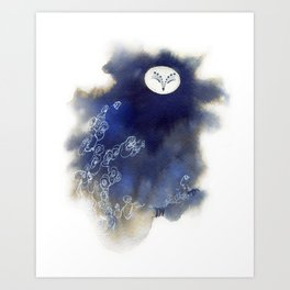 Ghost Owl Art Print