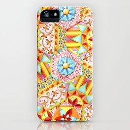 Pink Paisley Hexagons iPhone Case