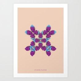 Symmetry: Sticking Plaster Art Print