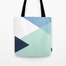 Geometrics - seafoam & blue concrete Tote Bag