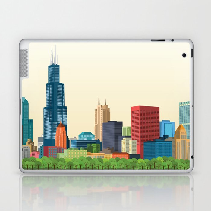City Chicago Laptop & iPad Skin