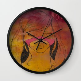 sauvage girl Wall Clock
