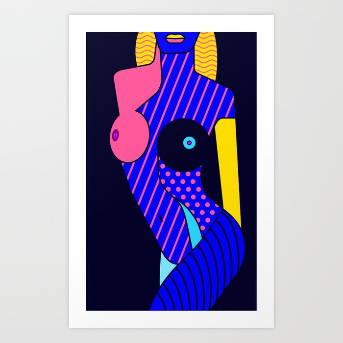 Woman's Body Composition I Art Print