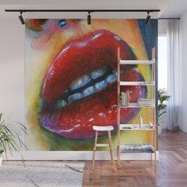 Lips study #4 Wall Mural
