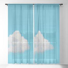 Happy Cloud Sheer Curtain
