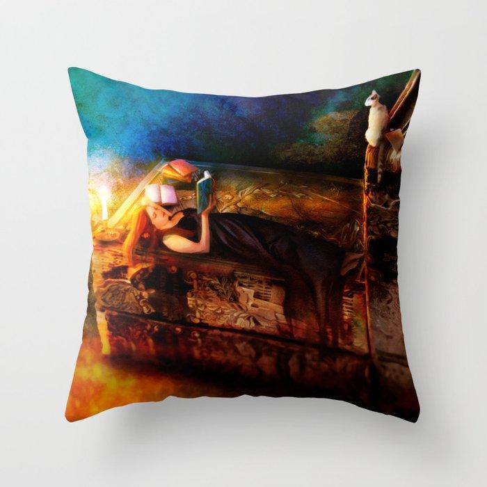 Ex Libris - A Book Lover's Dream Throw Pillow