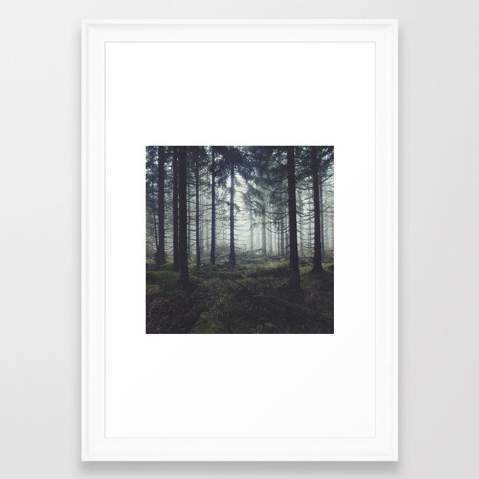 Through The Trees Framed Art Print by tekay | Society6