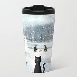 Cat on tour Travel Mug