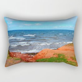 Rolling Waves in East Point PEI Rectangular Pillow
