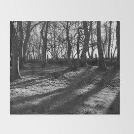 Railway Trees Throw Blanket