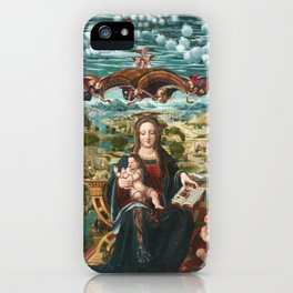 Virgin and Child with the Infant Saint John iPhone Case