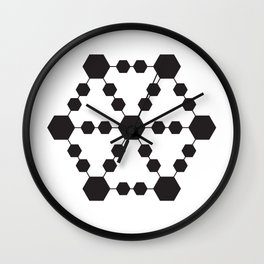 Jugglers Metatron Black Wall Clock