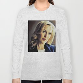 Stella Gibson oli color painting Long Sleeve T-shirt