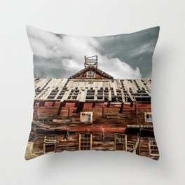 Imminent collapse Throw Pillow