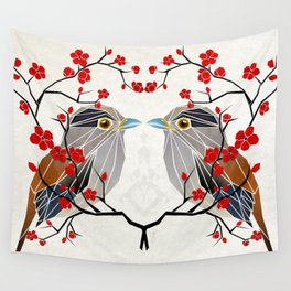look at me my bird  Wall Tapestry