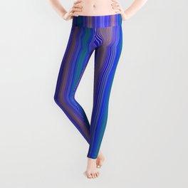 mediterranean stripe Leggings