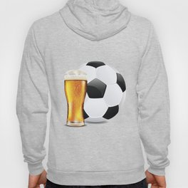 Beer and Soccer Ball Hoody