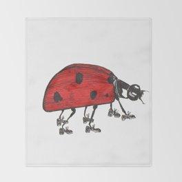 Ladybug Wearing Tap Shoes Gotta Dance Throw Blanket