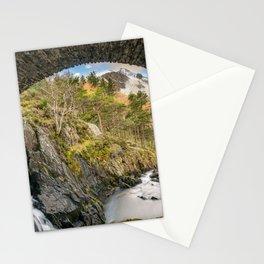 Pont Pen y Benglog Bridge Snowdonia Stationery Cards
