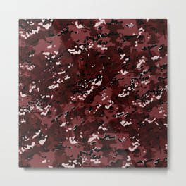 Maroon Red Popular Multi Camo Pattern Metal Print