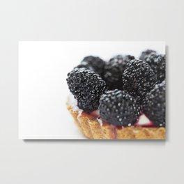 Blueberry Torte Metal Print