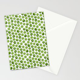 Dancing Green Limes on White Stationery Cards