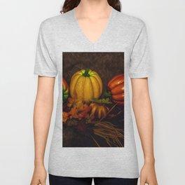 Autumn Pumpkins Unisex V-Neck