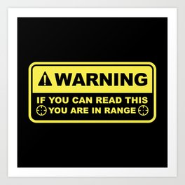 If You Can Read This Art Print
