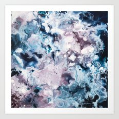 Color Commentary #2: Navy Blue & Purple (But Not Fuscia) [Annie Yim] Art Print