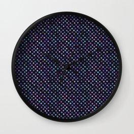 Retro Colored Dots Material Wall Clock