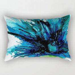 Teal Mum Spray by Studio 1153 Rectangular Pillow