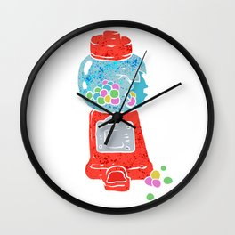 Bubble gum machine. Wall Clock