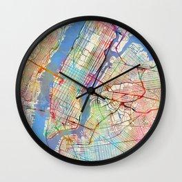 New York City Street Map Wall Clock