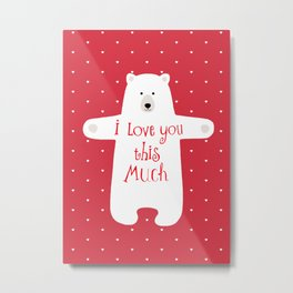 Bear hugs Metal Print