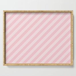 Light Millennial Pink Pastel Candy Cane Stripes Serving Tray