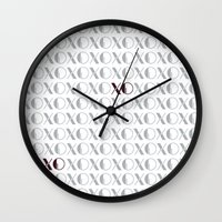 xoxo Wall Clocks featuring XOXO by Zen and Chic