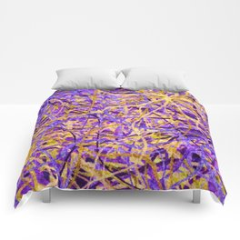 Purple and Gold Celebration Comforters