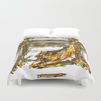 baroque Duvet Covers featuring Baroque Angeldust by Benedikt Amrhein