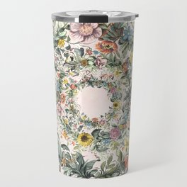 Circle of life- floral Travel Mug